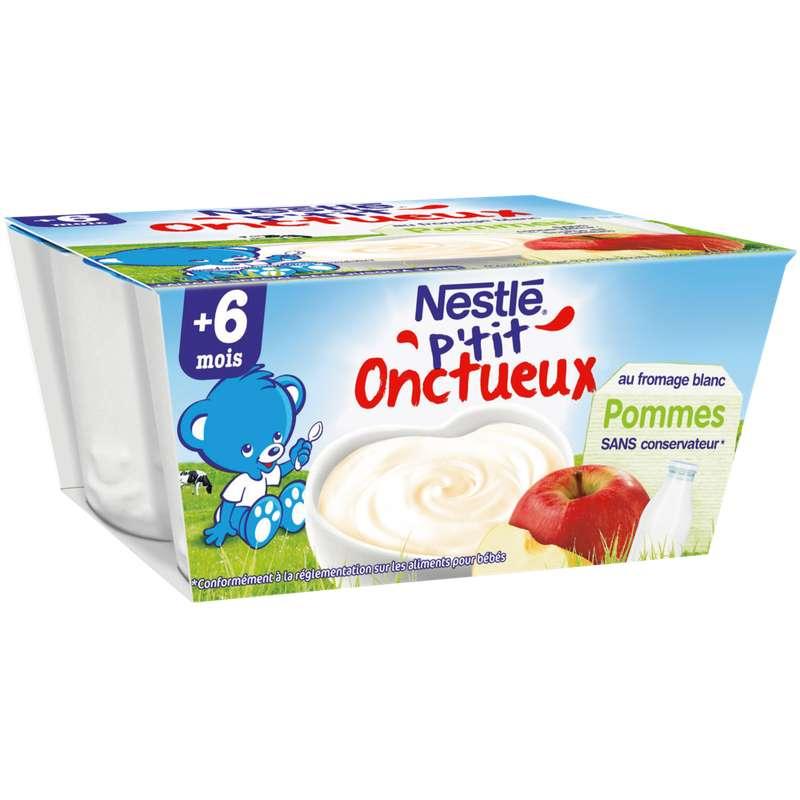 P'tit onctueux à la pomme - dès 6 mois, Nestlé (4 x 100 g)