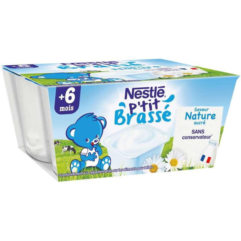 P'tit brassé nature - dès 6 mois, Nestlé (4 x 100 g)