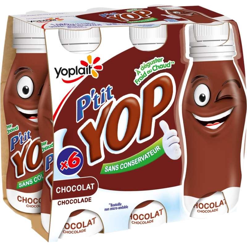 Yaourt à boire au chocolat, P'tit Yop (6 x 180 g)