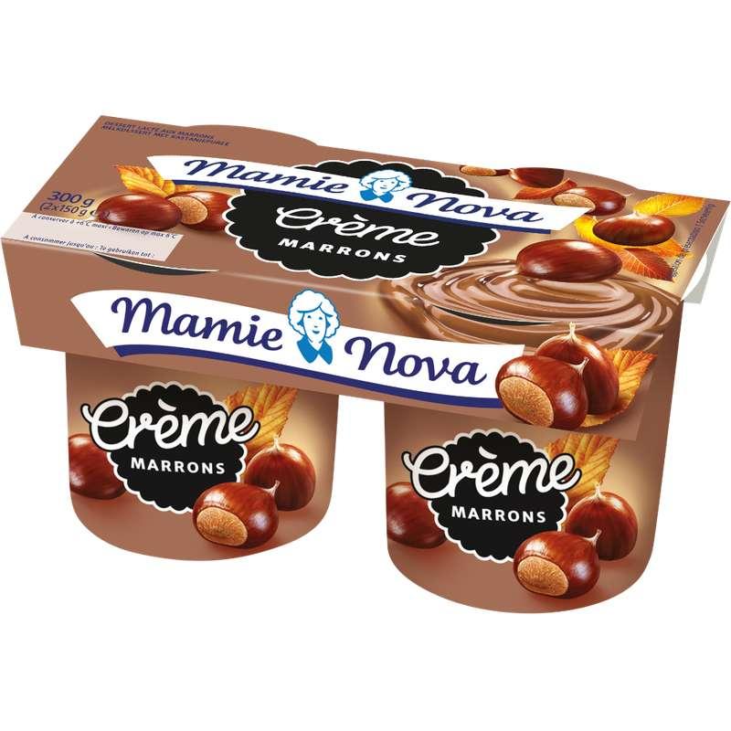Crème dessert aux Marrons, Mamie Nova (2 x 150 g)