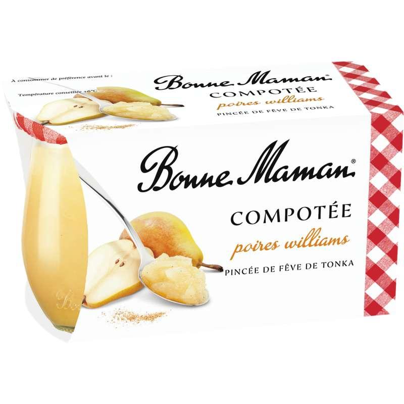 Dessert compotée de poires williams, Bonne Maman (2 x 130 g)
