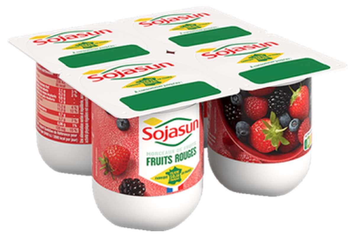 Dessert végétal Fruits Rouges, Sojasun (4 x 100 g)