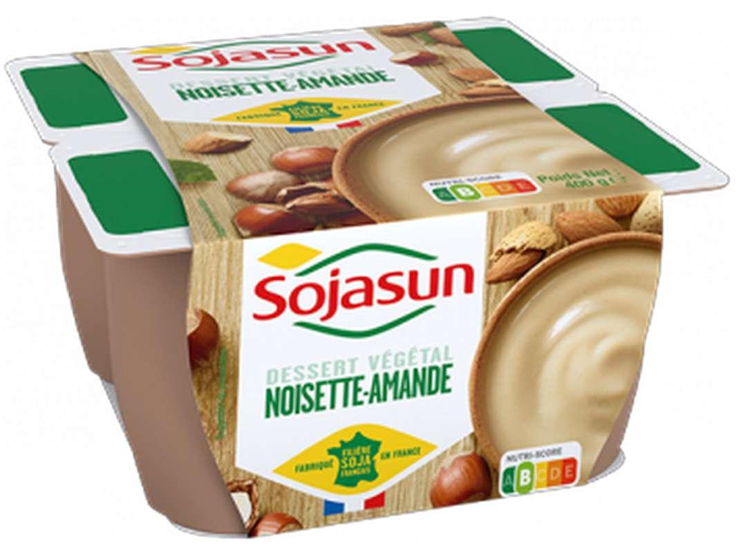 Dessert végétal Noisettes Amandes, Sojasun (4 x 100 g)