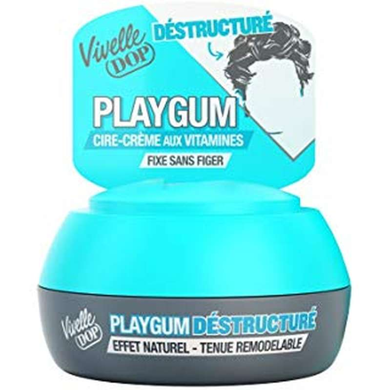 Cire coiffante Playgum destructuré, Vivelle Dop (80 ml)