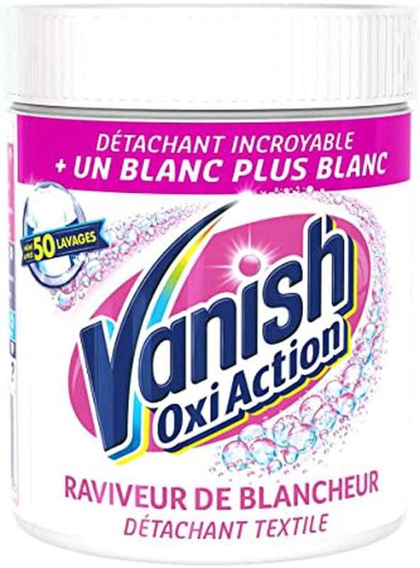 Détachant poudre raviveur de blancheur Oxi action, Vanish (470 g)