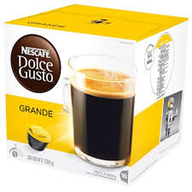 Café capsule grande, Dolce Gusto (x 16)