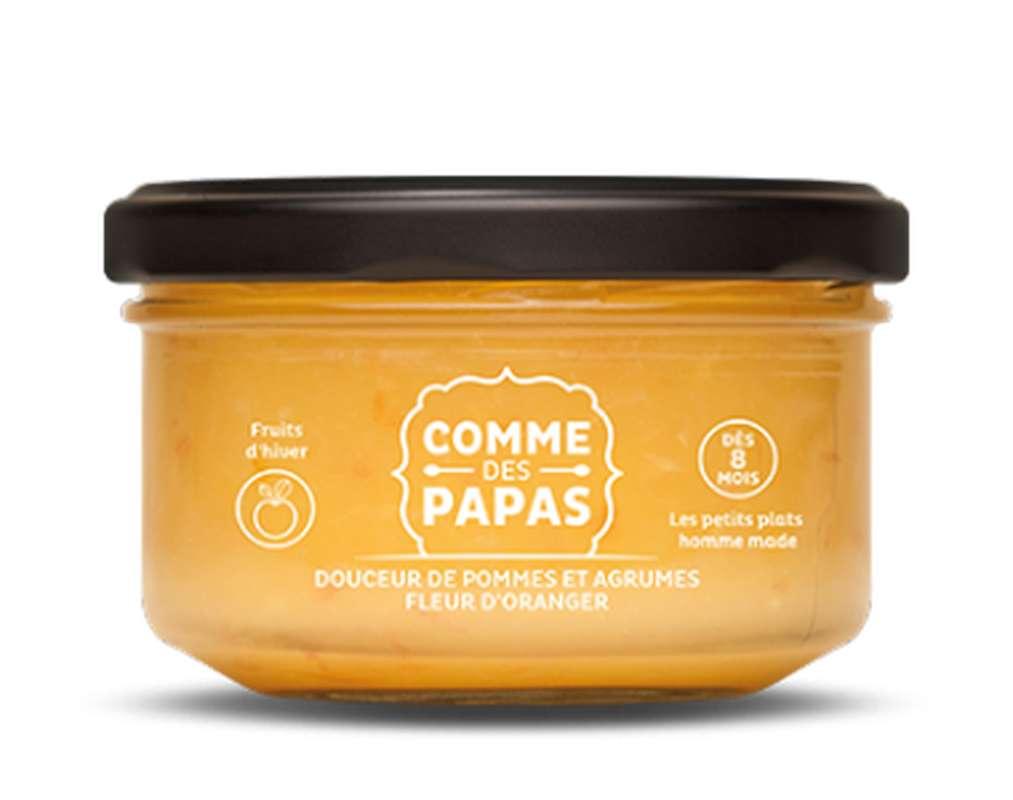 Douceur de pommes, agrumes et fleur d'oranger BIO - 8 mois, Comme des papas (130 g)