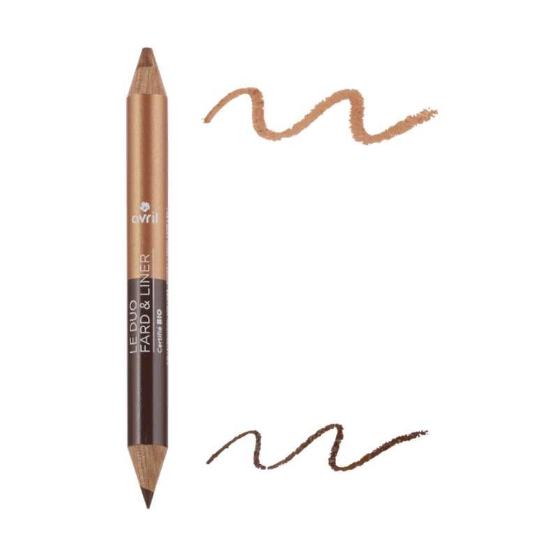 Duo fard & liner Expresso/Cuivre BIO, Avril (2 g)