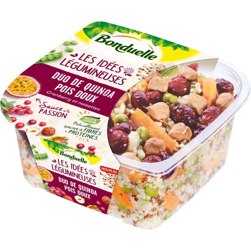 Duo de quinoa, pois doux, cranberry et noisettes, Bonduelle (250 g)