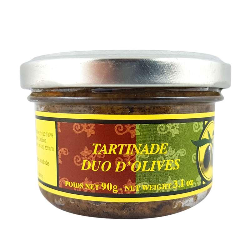 Duo tapenade olives noires & vertes, Le Vieux Bistrot (90 g)