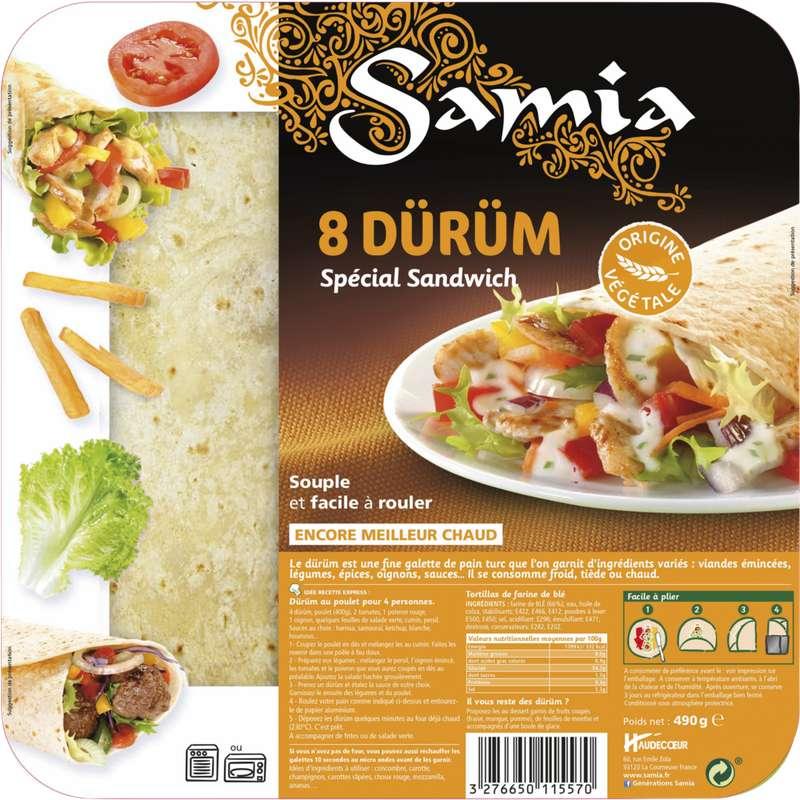 Durüm spécial sandwich, Samia (x 8, 490 g)