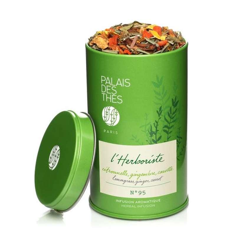 Infusion L'Herboriste n°95 citronnelle, gingembre, carottes BIO, Palais des Thés (80 g)