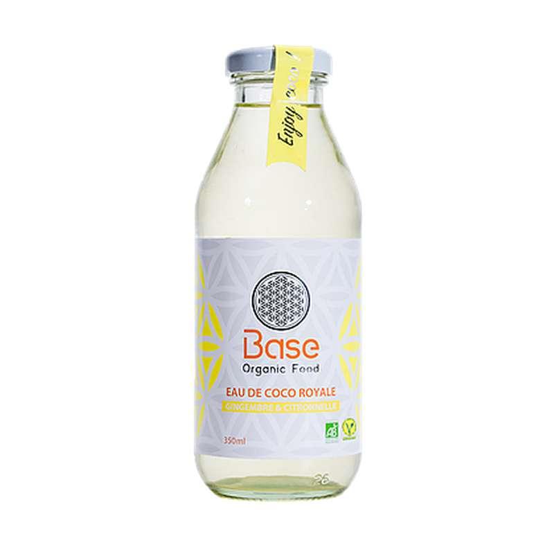 Eau de coco royale Gingembre et Citronnelle BIO, Base Organic Food (350 ml)