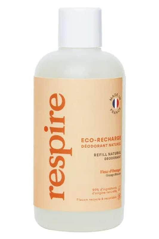 Eco Recharge Déodorant naturel Fleur d'Oranger BIO, Respire (150 ml)