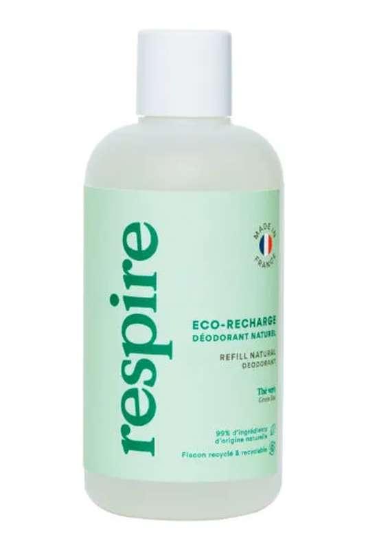 Eco Recharge Déodorant naturel Thé Vert BIO, Respire (150 ml)
