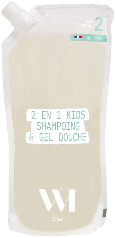 Eco-recharge Shampoing & douche Kids BIO, What Matters (570 ml)