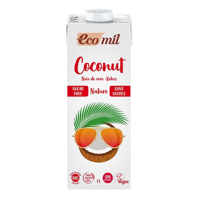 Lait de coco sans sucre BIO, Ecomil (1 L)
