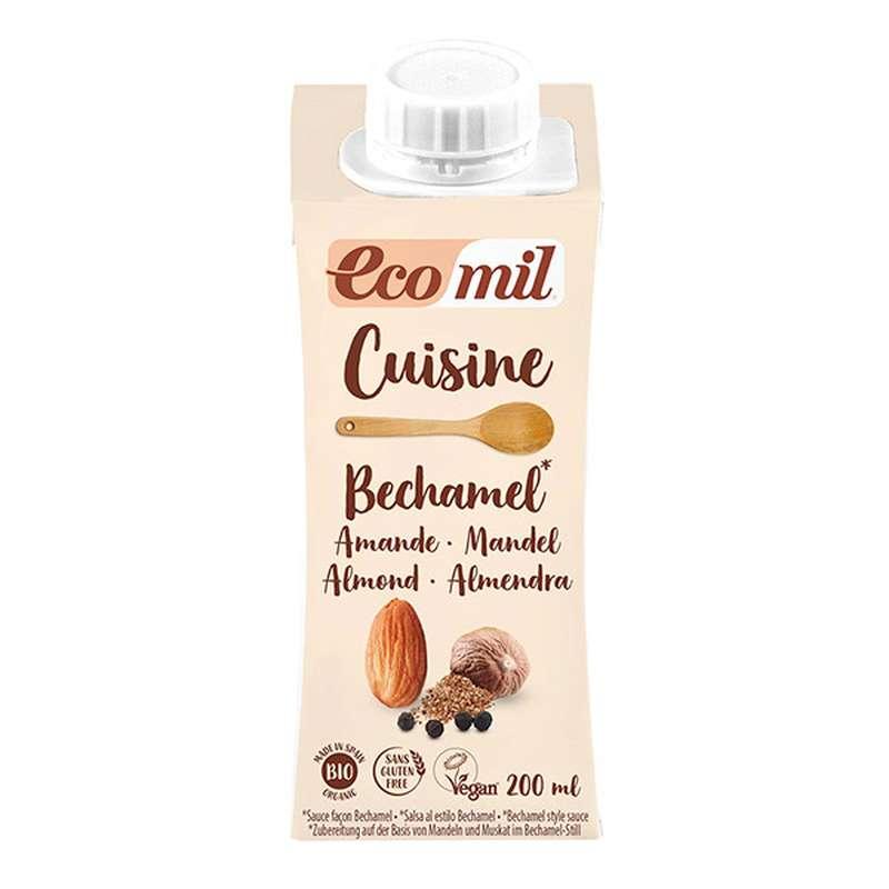 Crème cuisine béchamel aux amandes BIO, Ecomil (200 ml)