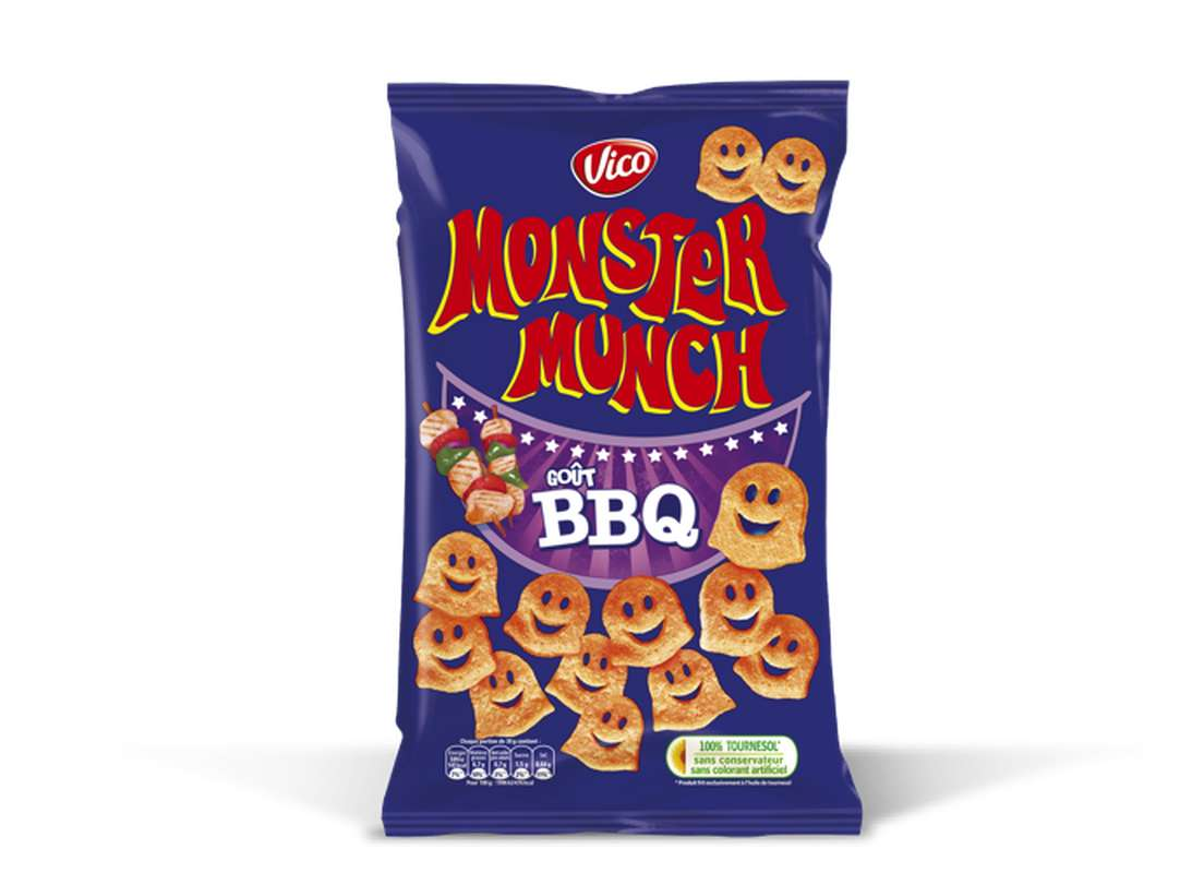 Monster Munch goût barbecue, Vico (85 g)