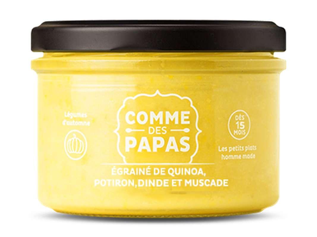 Egrainé de quinoa, potiron, dinde et muscade BIO - 15 mois Comme des Papas (230 g)