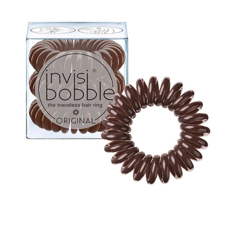 Elastique cheveux ORIGINAL Pretzel Brown, Invisibobble (x3)