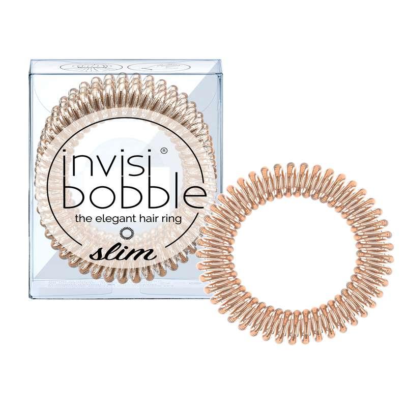 Elastique cheveux SLIM Bronze Me Pretty, Invisibobble (x3)