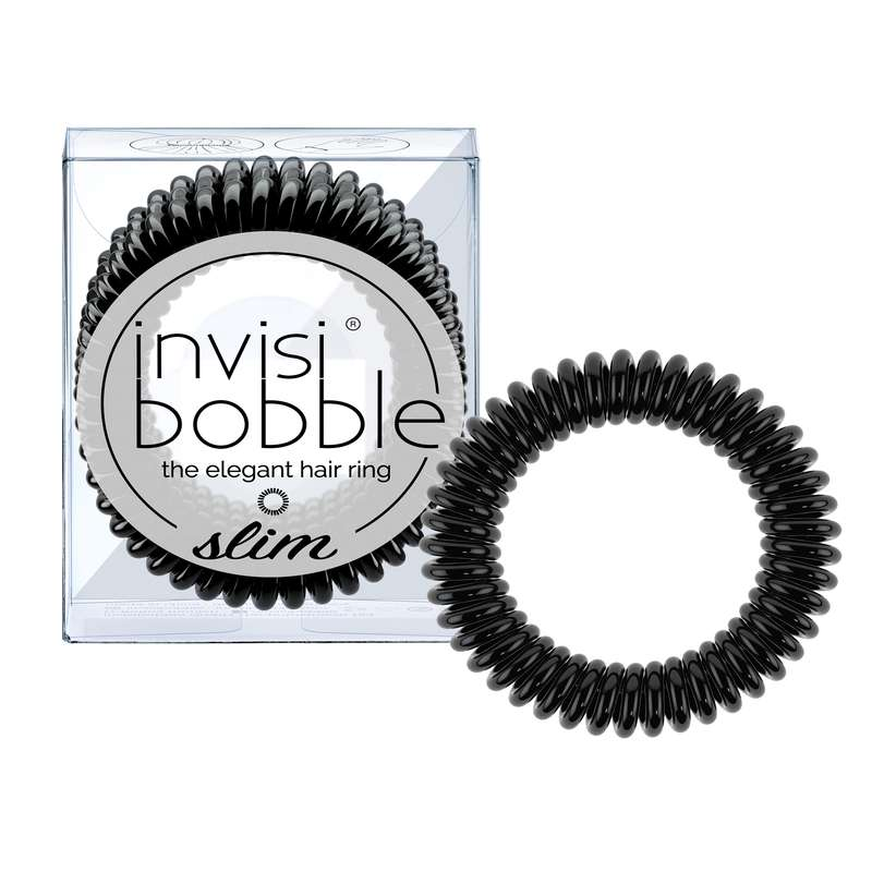 Elastique cheveux SLIM True Black, Invisibobble (x3)