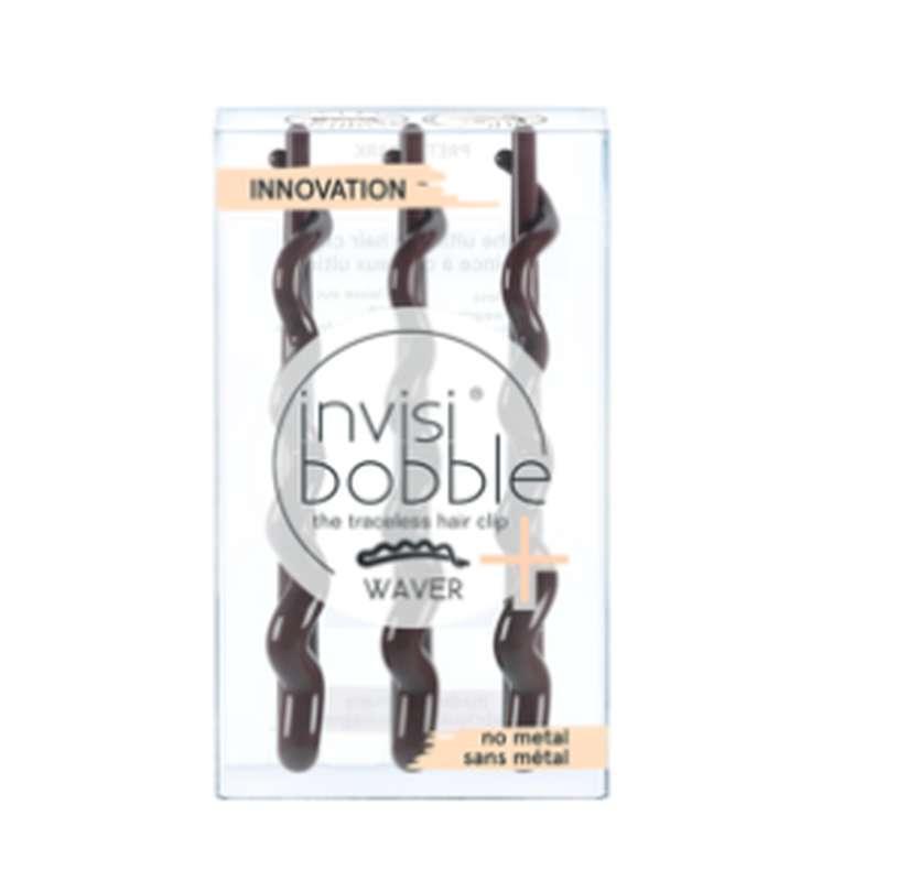 Barrettes cheveux WAVER PLUS Pretty Dark, Invisibobble (x3)