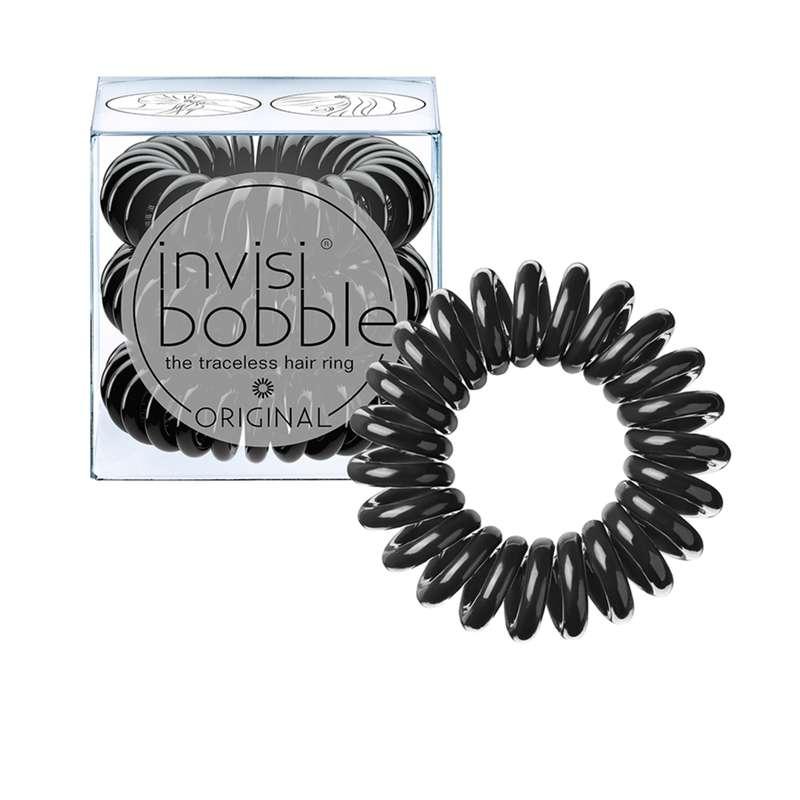 Elastique cheveux ORIGINAL True Black, Invisibobble (x3)