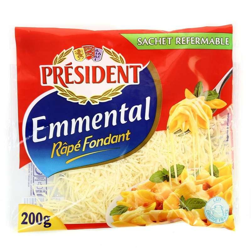 Emmental pasteurisé rapé fondant, Président (200 g)