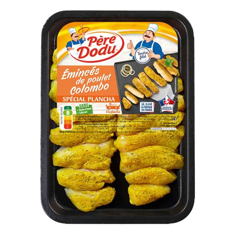 Emincés de poulet façon colombo spécial plancha, Père Dodu (300 g)