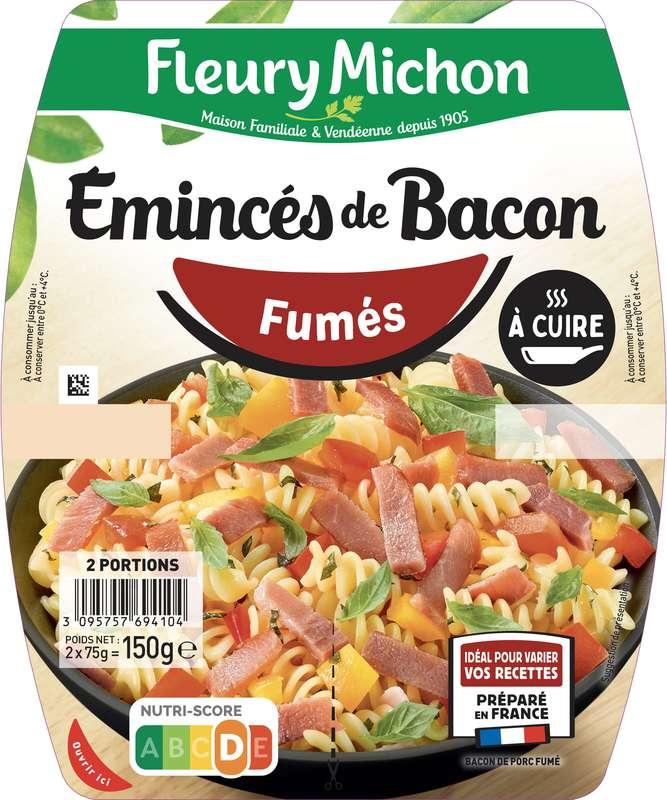 Emincés de bacon fumés, Fleury Michon (2 x 75 g)