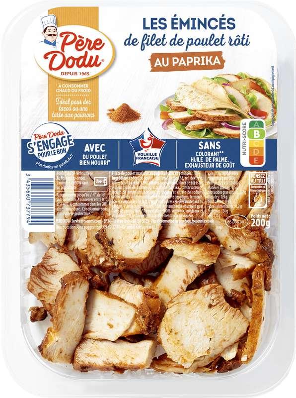 Émincés de filet poulet paprika, Père Dodu (200 g)