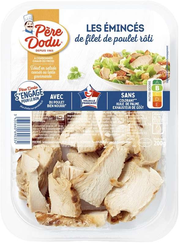 Émincés de filet poulet rôti, Père Dodu (200 g)