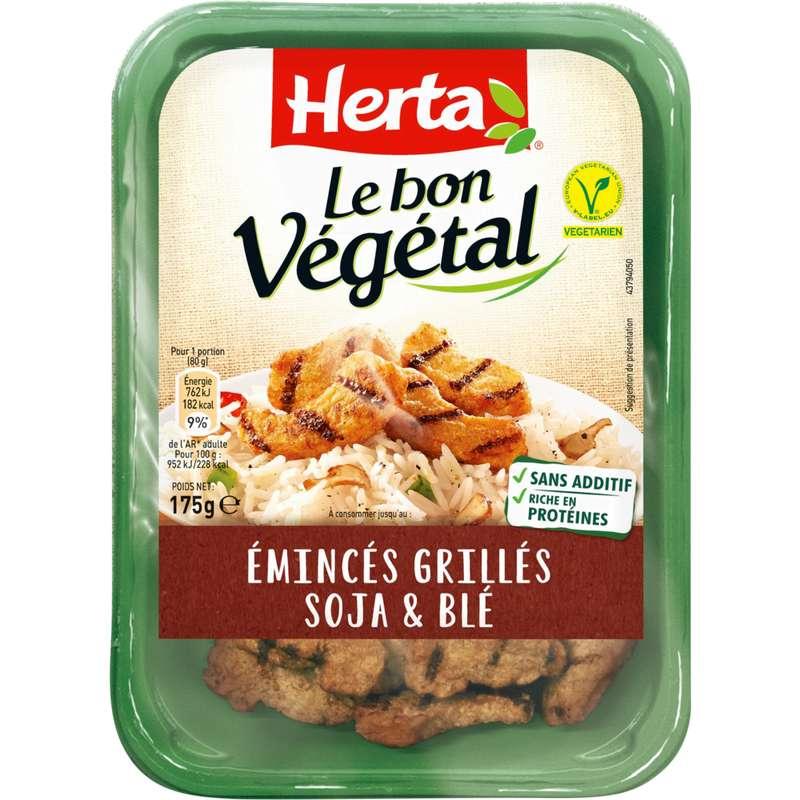 Emincés grillés soja et blé Le Bon Végétal, Herta (175 g)