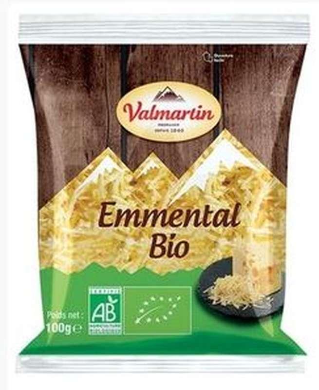 Emmental râpé BIO, Valmartin (100 g)