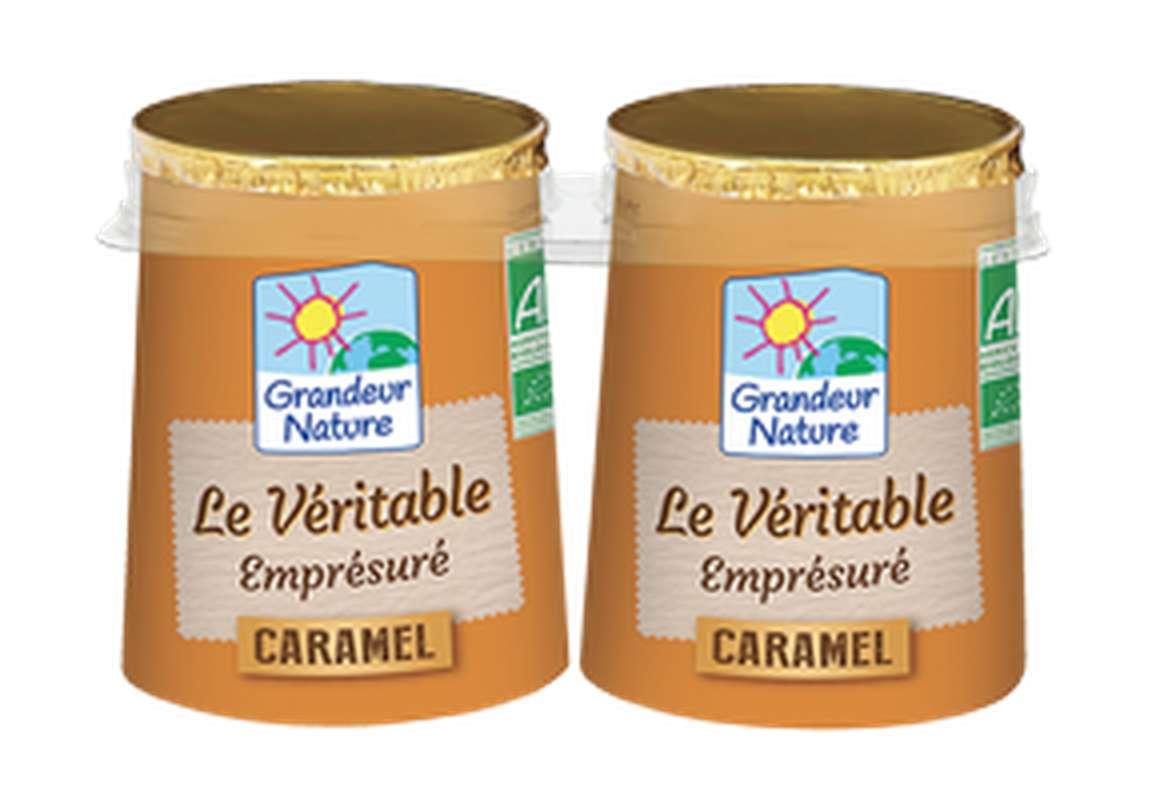 Emprésuré caramel BIO, Grandeur Nature (2 x 125 g)