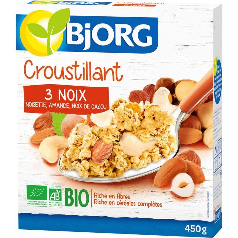 Croustillant aux 3 noix BIO, Bjorg (450 g)
