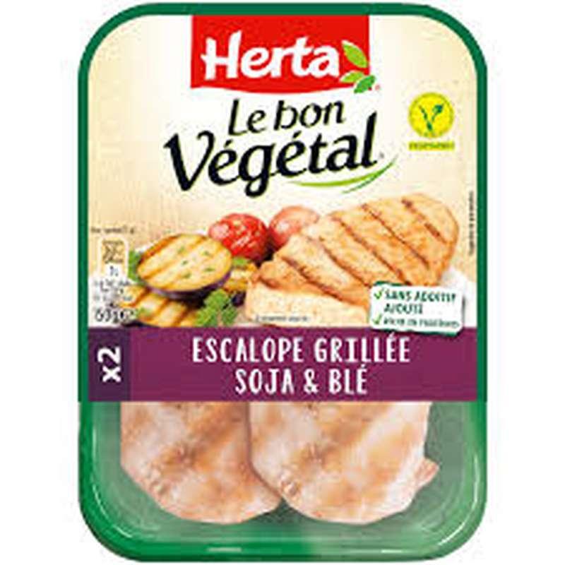 Escalope grillée soja et blé Le Bon Végétal, Herta (x 2, 150 g)
