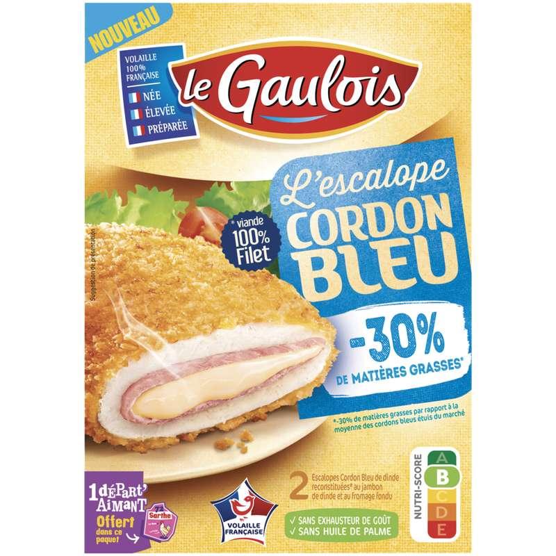 Cordon bleu de dinde -30% de MG, Le Gaulois (x 2, 200 g)