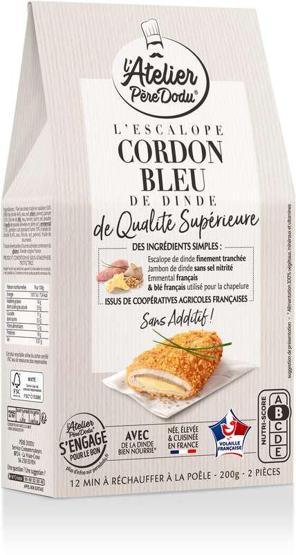 Escalope Cordon Bleu de qualité supérieure, l'Atelier Père Dodu (x 2, 200 g)