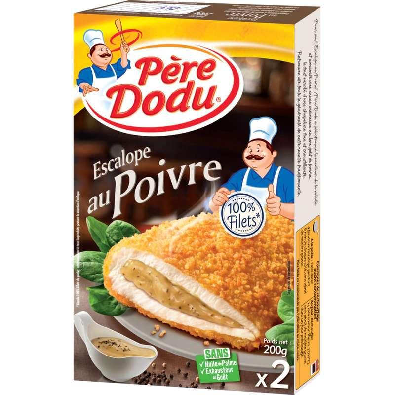 Escalope au poivre, Père Dodu (x 2, 200 g)