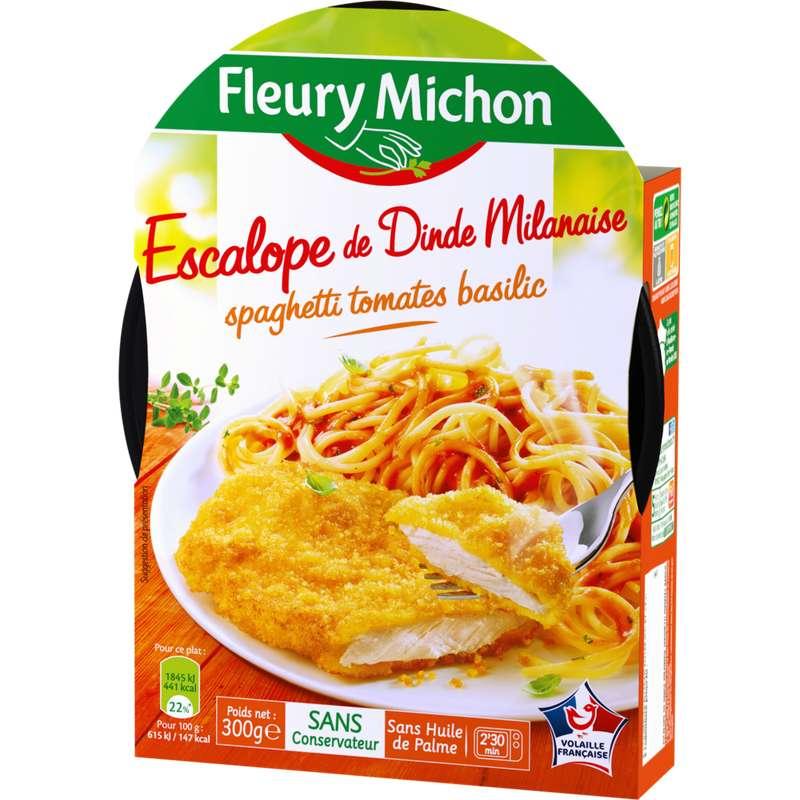 Escalope milanaise et spaghetti sauce tomate, Fleury Michon (300 g)