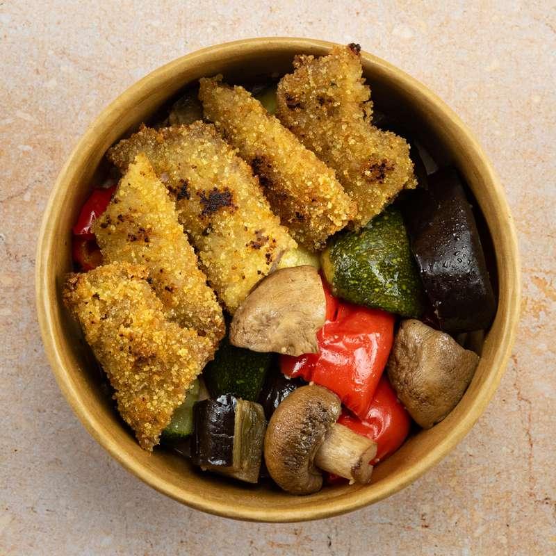 Escalope milanaise, poêlée de légumes (300 g)