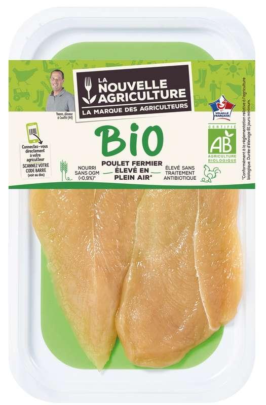 Escalopes de poulet fermier BIO, La Nouvelle Agriculture (x 2, 140 g)