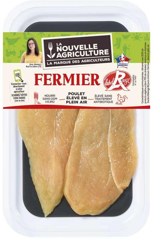 Escalopes de poulet fermier Label rouge, La Nouvelle Agriculture (x 2, 140 g)