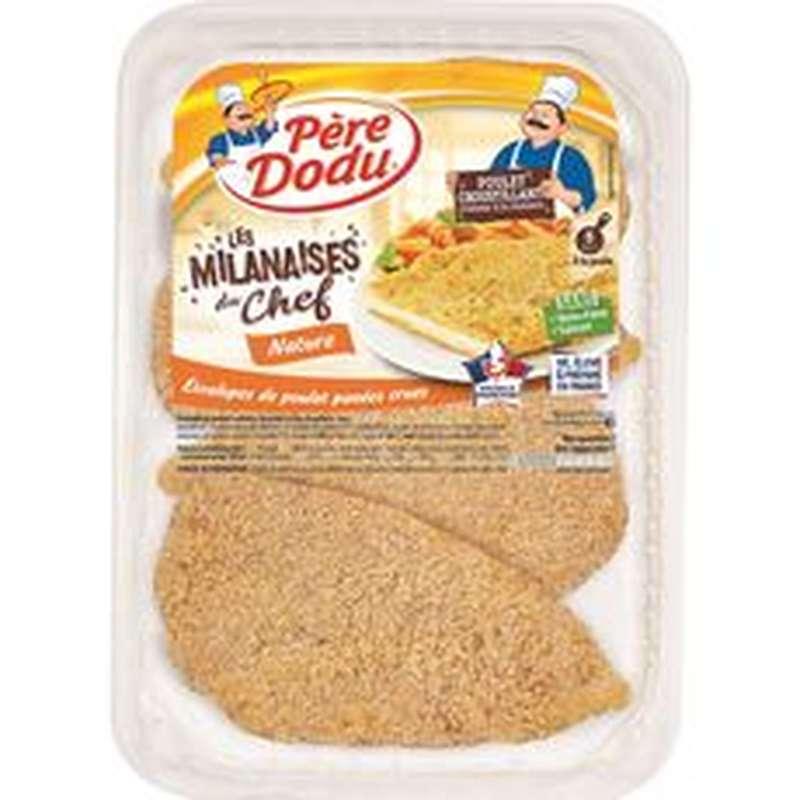 Escalopes de poulet milanaises, Père Dodu (x 4, 460 g)