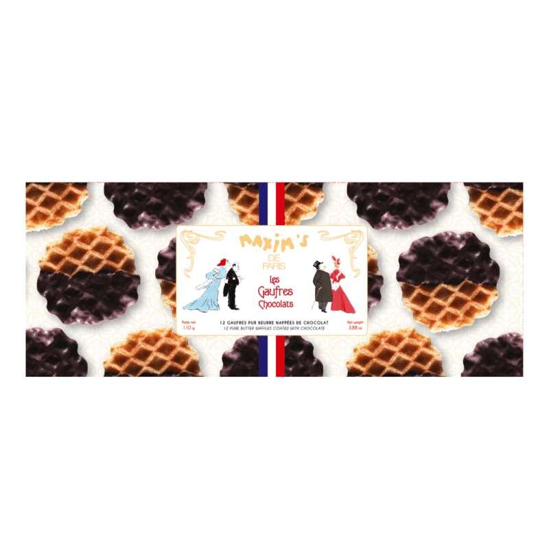 Étui 12 Gaufres chocolat, Maxim's (110 g)
