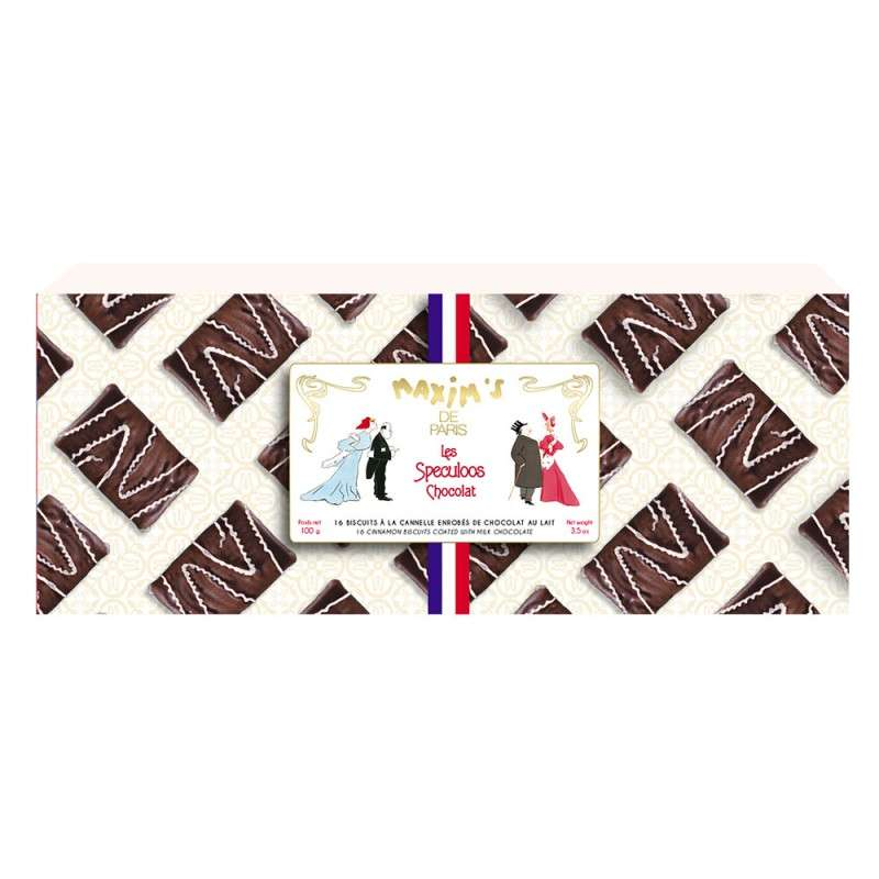 Étui 16 Spéculoos chocolat, Maxim's (100 g)