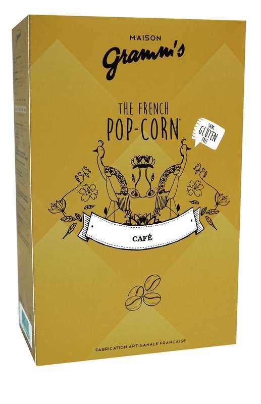 Étui de Pop-Corn caramel au beurre salé au café léger, Maison Gramm's (100 g)